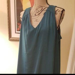 Elegant casual green teal dress